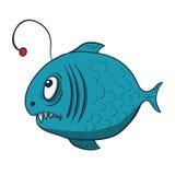 Grappige beeldverhaalvissen. Vectorillustratie Stock Fotografie