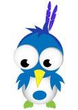 Grappige beeldverhaalvogel Stock Foto