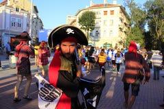 Grappige bemanningsleden bij Bemanningsparade Varna Bulgarije royalty-vrije stock foto's