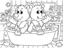 Grappige beren Royalty-vrije Stock Afbeeldingen