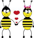 bijen in liefde Stock Afbeelding