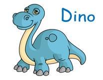 Grappige blauwe Dino Stock Afbeelding