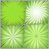 Grappige boek groene abstracte achtergronden royalty-vrije illustratie