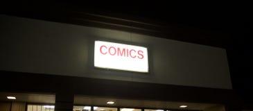 Grappige boekhandel stock foto