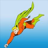 Grappige boekstijl Superhero Stock Fotografie