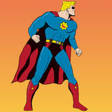 Grappige boekstijl Superhero Stock Afbeeldingen