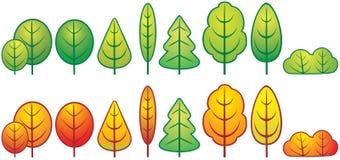Grappige bomen stock illustratie