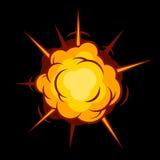 Grappige Boom Explosie Vector Royalty-vrije Stock Afbeeldingen