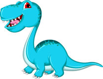 Grappige Brontosaurus-dinosaurus vector illustratie