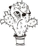 Grappige cactus Royalty-vrije Stock Afbeeldingen