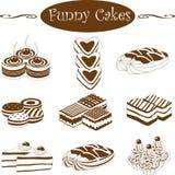 Grappige cakes Stock Foto