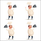Grappige chef-kok, leuk karakter Vector beeldverhaalillustratie Royalty-vrije Stock Afbeelding