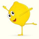 Grappige citroen Stock Afbeelding