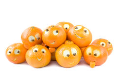 Grappige clementines Stock Foto