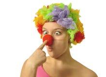 Grappige clown Stock Foto's