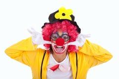 Grappige clown Stock Afbeeldingen