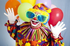 Grappige Clown in Grote Glazen stock fotografie