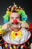 Grappige clown in humeur Royalty-vrije Stock Afbeelding
