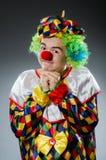 Grappige clown in humeur Stock Fotografie