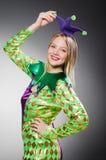 Grappige clown in kleurrijk Royalty-vrije Stock Fotografie