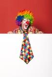 Grappige clown met band Stock Afbeelding
