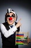 Grappige clown met telraam Royalty-vrije Stock Fotografie