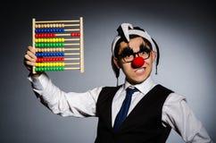 Grappige clown met telraam Royalty-vrije Stock Foto