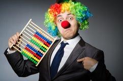Grappige clownzakenman Stock Foto