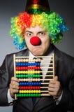 Grappige clownzakenman Stock Fotografie