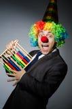 Grappige clownzakenman Royalty-vrije Stock Afbeeldingen