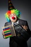 Grappige clownzakenman Royalty-vrije Stock Foto's