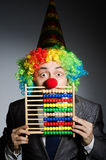 Grappige clownzakenman Royalty-vrije Stock Fotografie