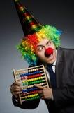 Grappige clownzakenman Stock Foto's