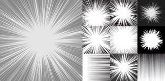 Grappige de horizontale lijnen van de boeksnelheid reeks als achtergrond van tien beelden stock illustratie
