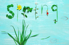 Grappige de lenteachtergrond Royalty-vrije Stock Foto