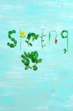 Grappige de lenteachtergrond Stock Afbeeldingen