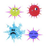 Grappige de vector van de Bacterie van kiemen en van insecten Stock Fotografie