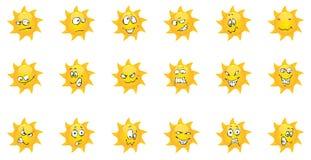 Grappige de zomeremotie van de Zon Royalty-vrije Stock Afbeeldingen