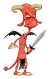 Grappige demon. royalty-vrije illustratie
