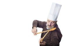 Grappige die kokmens op witte achtergrond wordt geïsoleerd Royalty-vrije Stock Foto