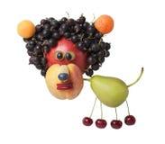 Grappige die leeuw van diverse vruchten wordt gecreeerd Royalty-vrije Stock Afbeeldingen