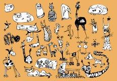 Grappige dieren Royalty-vrije Stock Afbeeldingen