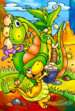 Grappige Dinosaurussen Royalty-vrije Stock Afbeelding