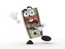Grappige dollar royalty-vrije illustratie