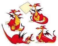 Grappige draken. Royalty-vrije Stock Foto's