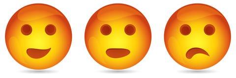 Grappige emoticons Stock Afbeeldingen