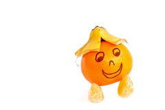 Grappige fruitmascotte Royalty-vrije Stock Foto