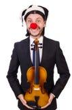 Grappige geïsoleerde clownzakenman Royalty-vrije Stock Afbeelding