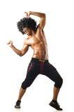 Grappige geïsoleerde danser Stock Afbeeldingen