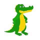 Grappige gele krokodil Royalty-vrije Stock Afbeeldingen